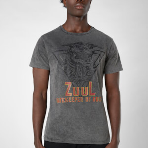 Ghostbusters Zuul Gatekeeper Of Gozer Unisex T-Shirt - Schwarz Acid Wash