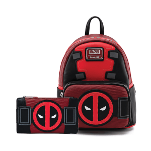 Loungefly Marvel Deadpool Merc With A Mouth Mini Backpack and Wallet Set