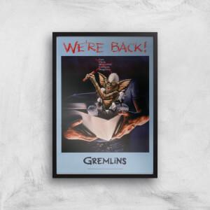 Gremlins We're Back Poster Giclee Art Print