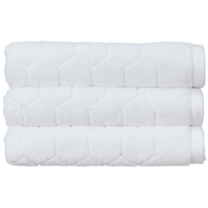 Christy Honeycomb Bath Towel - Set of 2 - White