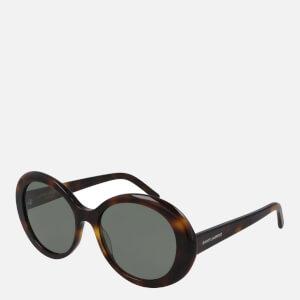 Saint Laurent Women's Oversized Round Sunglasses - Havana/Green