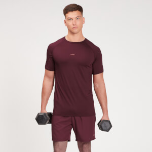 MP Men's Fade Graphic Training Short Sleeve T-Shirt - Washed Oxblood