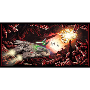 "Star Wars ""The Falcon on Crait"" Lithograph by Derek Payne"