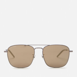 Saint Laurent Men's Sl 309 Metal Aviator Sunglasses - Brown