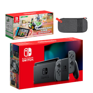Nintendo Switch (Grey) Mario Kart Live: Home Circuit - Luigi Set Pack