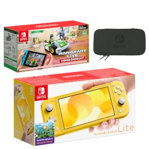 Nintendo Switch Lite (Yellow) Mario Kart Live: Home Circuit - Luigi Set Pack
