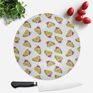 Christmas Taco Round Chopping Board