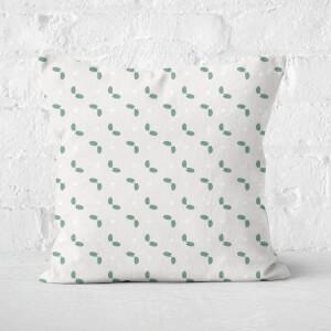 Mistletoe Pattern Square Cushion