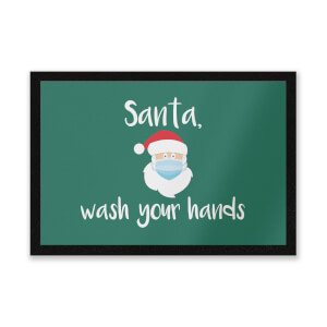 Santa Wash Your Hands Entrance Mat