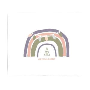 Christmas Rainbow Fleece Blanket