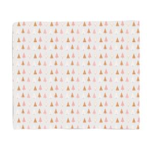 Pastel Pink Trees Fleece Blanket