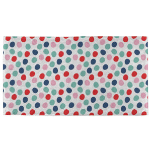 Christmas Coloured Spots Fitness Towel