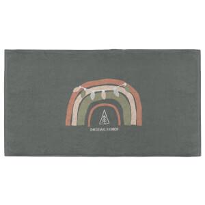 Christmas Rainbow Green Fitness Towel