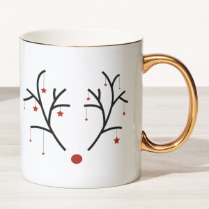 Rudolph Bone China Gold Handle Mug