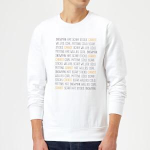 Snowman Items Sweatshirt - White