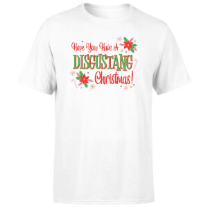 Hope You Have A Disgustang Christmas Festive Men's T-Shirt - White