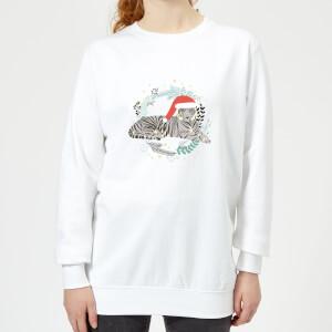 Snow Tiger Women's Sweatshirt - White