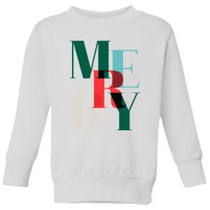 Graphic Merry Kids' Sweatshirt - White