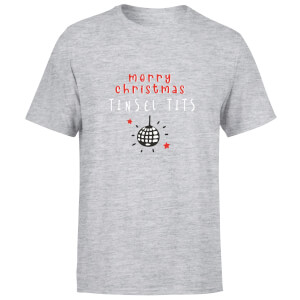 Disco Merry Christmas Tinsel Tits Men's T-Shirt - Grey