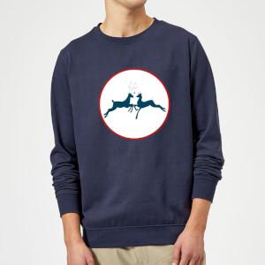 Reindeer Kisses Sweatshirt - Navy