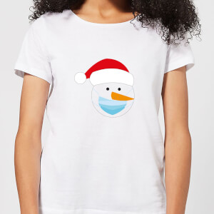 Covid Snowman Women's T-Shirt - White