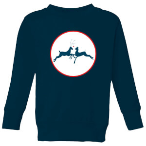 Reindeer Kisses Kids' Sweatshirt - Navy