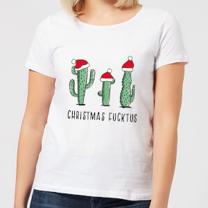 Christmas Fucktus Women's T-Shirt - White