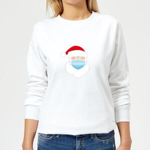 Covid Santa Women's Sweatshirt - White