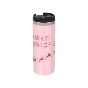 I Sleigh At Making Coffees Stainless Steel Thermo Travel Mug - Metallic Finish
