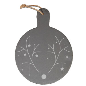 Minimalistic Rudolph Engraved Slate Cheese Board