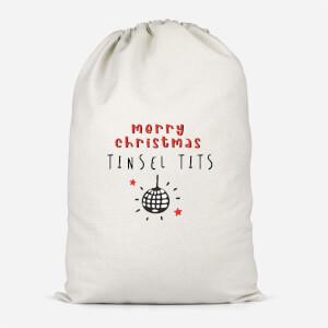 Merry Christmas Tinsel Tits Santa Sack