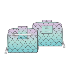 Loungefly Disney Little Mermaid Ombre Scales Zip Around Wallet