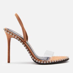 Alexander Wang Women's Nova Suede Heeled Sandals - Clay