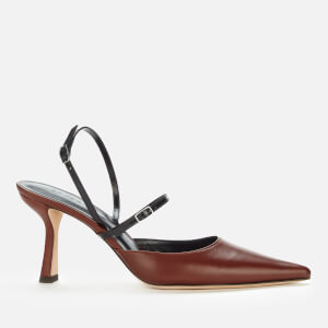 by FAR Women's Tiffany Leather Court Shoes - Dark Brown