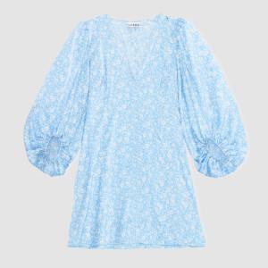 Ganni Women's Silk Stetch Satin Mini Dress - Alaskan Blue