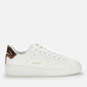 Golden Goose Deluxe Brand Women's Pure Star Leather Chunky Trainers - White/Leopard