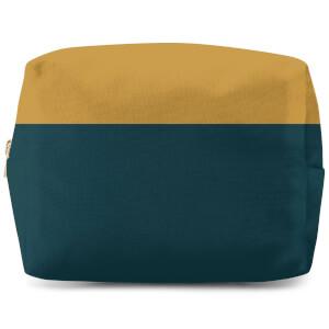 Split Colour Mustard Wash Bag