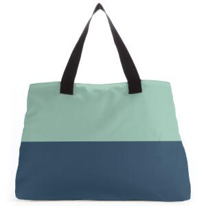 Split Colour Navy Large Tote Bag