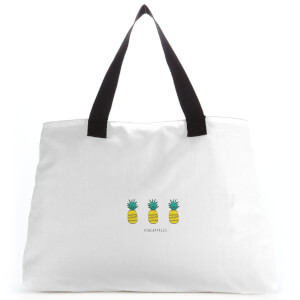 Pineapples Large Tote Bag