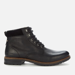 Barbour Men's Wolsingham Weatherproof Leather Lace Up Boots - Black