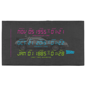 Back to the Future Car Dates - Fitness Towel