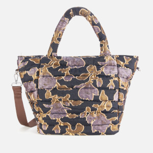 HVISK Women's Valley Night Lily Medium Tote Bag - Night Blue Multi