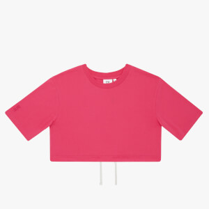 Les Girls Les Boys Women's Jersey Apparel Crop Top - Raspberry