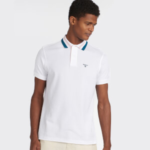 Barbour Men's Hawkeswater Tipped Polo Shirt - White