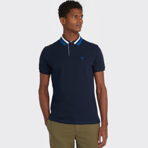Barbour Men's Hawkeswater Tipped Polo Shirt - Navy