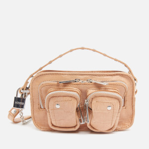 Núnoo Women's Helena Croco Cross Body Bag - Beige