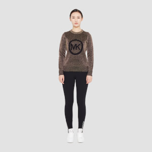 MICHAEL MICHAEL KORS Women's MK Metallic Sweater - Black/Gold