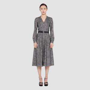 MICHAEL MICHAEL KORS Women's Galaxy Midi Shirt Dress - Black/Silver