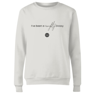 GLOSSYBOX I've Been A Naughty Glossy Women's Christmas Jumper - White