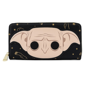 Loungefly Harry Potter Dobby Head Zip Around Wallet